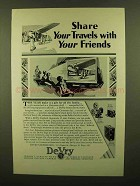 1928 DeVry Movie Cameras and Projectors Ad - Share