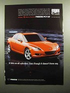 2004 Mazda RX-8 Car Ad - Hits on All Cylinders