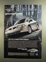 2000 Pontiac Grand Am Car Ad - You a Hard-Core Driver