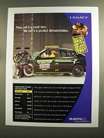 2000 Subaru Legacy Ad - They Call It a Crash Test