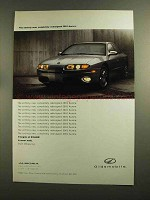 2001 Oldsmobile Aurora Car Ad - Completely Redesigned