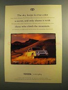 1999 Toyota 4Runner Ad - The Sky Keeps its True Color