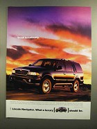 1999 Lincoln Navigator Ad - Tread Luxuriously