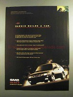 1998 Saab 9-3 Car Ad - Darwin Builds a Car