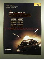 1998 Saab 9-3 Car Ad - The Car In Front Hits Brakes