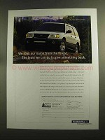 1997 Subaru Forester Ad - Took Name From The Forest