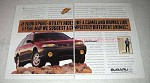 1997 Subaru Outback Ad - Rides Camel Drinks Fish