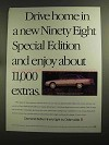 1993 Oldsmobile Ninety Eight Special Edition Car Ad