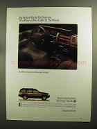 1992 Jeep Grand Cherokee Limited Ad - Cabin in Woods