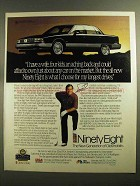 1991 Oldsmobile Ninety Eight Car Ad - Fuzzy Zoeller
