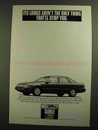 1991 Mercury Sable Car Ad - Looks Aren't the Only Thing