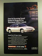 1991 Pontiac Grand Prix STE Sport Sedan Ad
