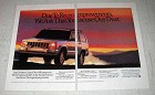 1991 Jeep Cherokee Limited Ad - Excuse Our Dust
