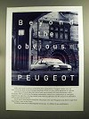 1991 Peugeot 405 Car Ad - Beyond the Obvious
