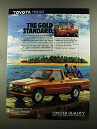 1988 Toyota Standard Bed Truck Ad - Gold Standard