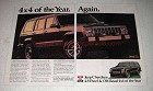 1988 Jeep Cherokee Ad - 4x4 of the Year. Again!