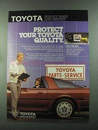 1987 Toyota Parts and Service Ad - Protect Your Quality