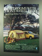 1985 Plymouth Voyager SE Ad - Magic Camper