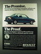 1985 Renault Encore Car Ad - The Promise