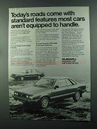 1984 Subaru Car Ad - Roads Standard Features