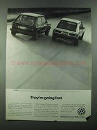 1983 Volkswagen Rabbit GTI Ad - They're Going Fast