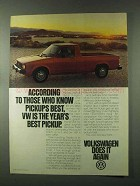 1981 Volkswagen Pickup Ad - Those Who Know