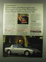 1980 Mazda RX-7 GS Ad - Appreciate Exceptional Value