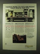 1980 Oldsmobile Cutlass Sedan Ad - More Than Meets Eye