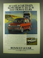 1980 Renault Le Car Ad - Slow From F to E