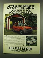 1980 Renault Le Car Ad - Compare it For Comfort