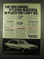 1980 Subaru Car Advertisement - Beautiful in Places You Can't See