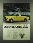 1980 Volkswagen Pickup Ad - Drives Like Something Else