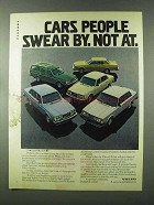 1980 Volvo Ad - DL Sedan, GLE, GT, Bertone Coupe