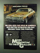 1980 Pontiac Catalina Ad - Great Going, Pontiac!