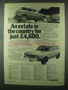 1979 Subaru 4-Wheel Drive Estate Ad - In the Country