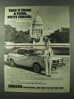 1979 Subaru Car Ad - Take it From a Ford