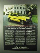 1979 Renault Le Car Ad - The Reverend Converted