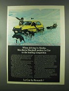 1979 Renault Le Car Ad - When Driving In Alaska