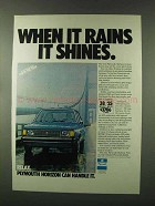 1978 Plymouth Horizon Ad - When it Rains it Shines