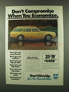 1978 Plymouth Volare Wagon Ad - Don't Compromise