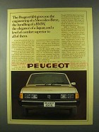 1977 Peugeot 604 Car Ad - Engineering of Mercedes-Benz