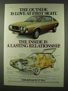 1977 Renault 17 TS Ad - Outside is Love at First Sight