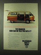 1977 Volkswagen Vanagon Ad - Can We Talk You Into It?