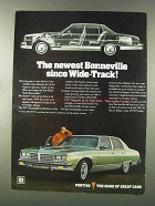 1977 Pontiac Bonneville Ad - Newest Since Wide-Track