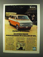 1976 Plymouth Voyager Van Ad - Works Harder on Gallon