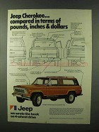 1976 Jeep Cherokee Chief Ad - Compared in Pounds