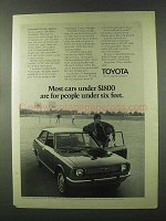 1971 Toyota Corolla Ad - People Under Six Feet