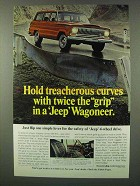 1966 Jeep Wagoneer Ad - Hold Treacherous Curves
