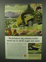 1943 Studebaker Military Trucks Ad - Major War Zones