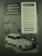 1940 Studebaker Commander Cruising Sedan Ad